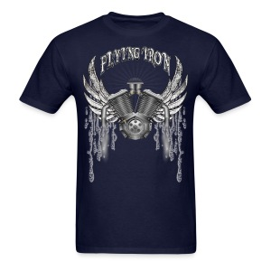 Flying V2 Motorcycle Engine T-Shirts - Men's T-Shirt