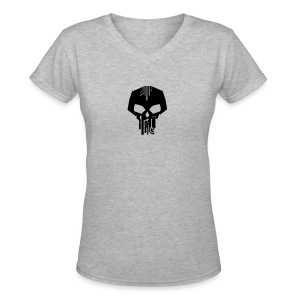 Women's V-Neck Skull Logo - Women's V-Neck T-Shirt
