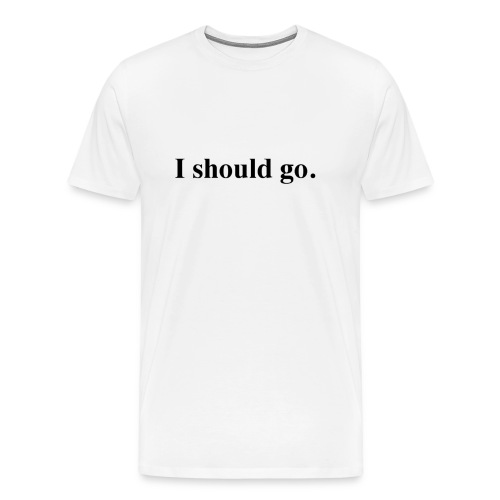 Mass Effect Men's Shirt I should go - Men's Premium T-Shirt