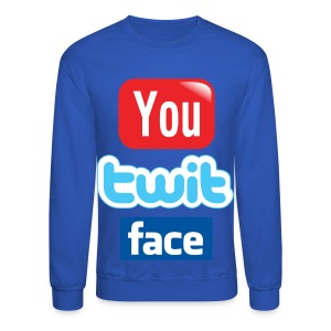 You Twit Face - Men - Crewneck Sweatshirt