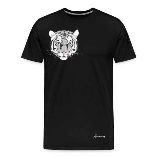 Aversion Tiger White/Blue T-Shirt - Men's Premium T-Shirt