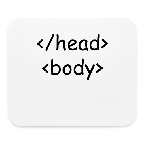 Head Body Mouse Pad - Mouse pad Horizontal