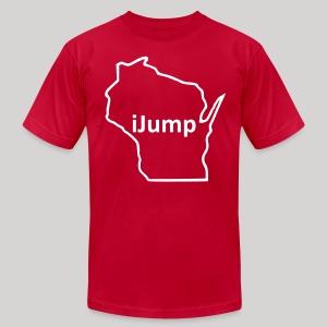 Wisconsin - iJump - Men's Fine Jersey T-Shirt