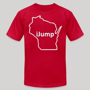 Wisconsin - iJump - Men's T-Shirt by American Apparel