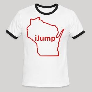 Wisconsin - iJump - Men's Ringer T-Shirt
