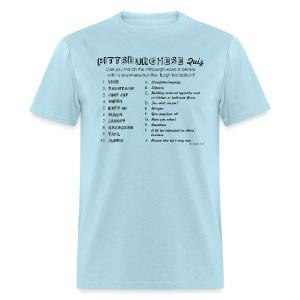 Pittsburghese Quiz (black print) - Men's T-Shirt