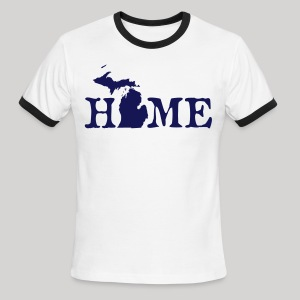 HOME - Michigan - Men's Ringer T-Shirt