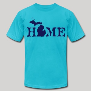 HOME - Michigan - Men's T-Shirt by American Apparel