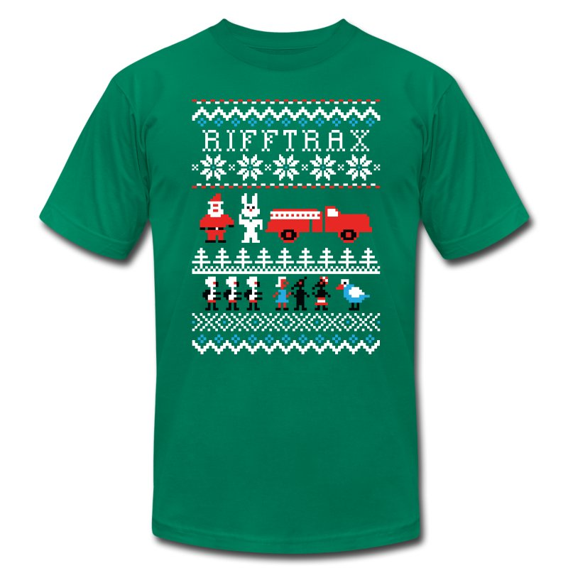 Men's Ice Cream Bunny Ugly Sweater T-shirt - Men's T-Shirt by American Apparel