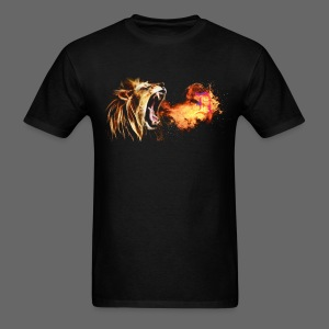 Fire Breathing Lion - Men's T-Shirt