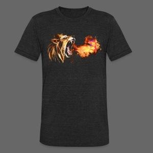 Fire Breathing Lion - Unisex Tri-Blend T-Shirt