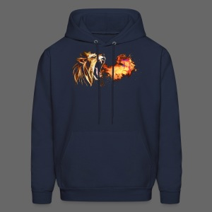 Fire Breathing Lion - Men's Hoodie