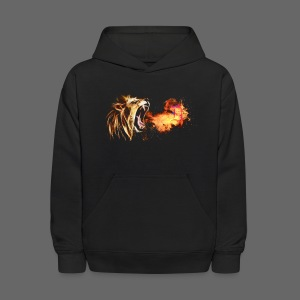 Fire Breathing Lion - Kids' Hoodie