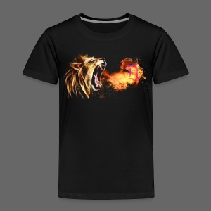 Fire Breathing Lion - Toddler Premium T-Shirt