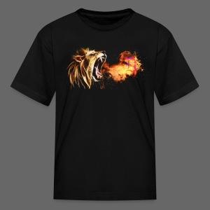Fire Breathing Lion - Kids' T-Shirt