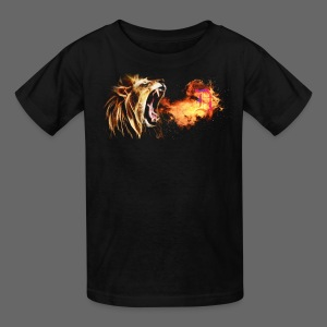 Fire Breathing Lion - Kids' T-Shirt