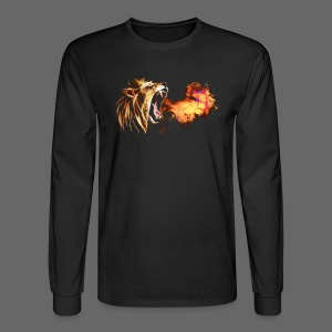 Fire Breathing Lion - Men's Long Sleeve T-Shirt