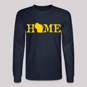 HOME - Wisconsin - Men's Long Sleeve T-Shirt