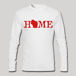 HOME - Wisconsin - Men's Long Sleeve T-Shirt by Next Level