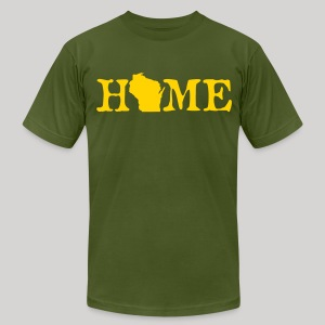 HOME - Wisconsin - Men's T-Shirt by American Apparel