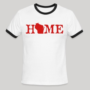 HOME - Wisconsin - Men's Ringer T-Shirt