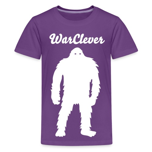 Kid's WarClever T-Shirt (Big Foot Edit) - Kids' Premium T-Shirt