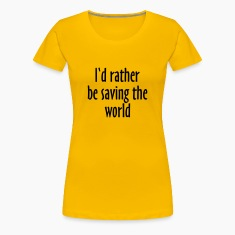 Saving The World T-Shirt (Women Yellow&Black)