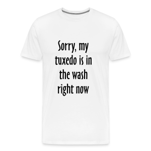 Tuxedo Wash Slogan T-Shirt (White/Black) - Men's Premium T-Shirt