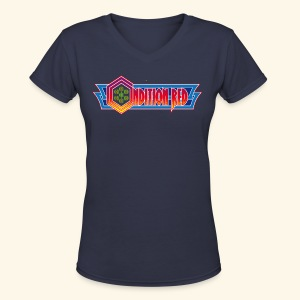 ConditionRed (free shirtcolor selection) - Women's V-Neck T-Shirt