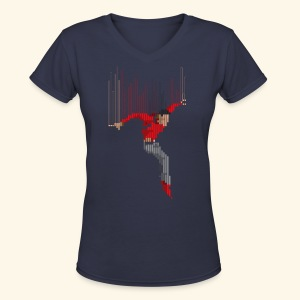 Freefall (free shirtcolor selection) - Women's V-Neck T-Shirt