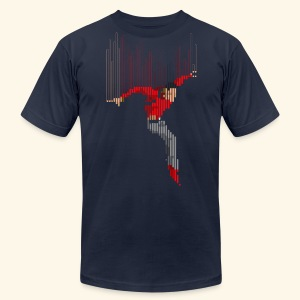 Freefall (free shirtcolor selection) - Men's T-Shirt by American Apparel