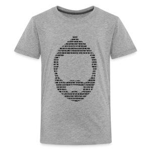 Kids Typography Beard 28Tshirt - Kids' Premium T-Shirt