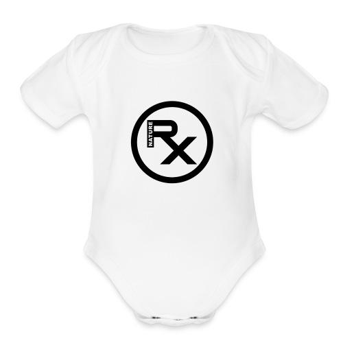 Raw Nature White and Black - Organic Short Sleeve Baby Bodysuit