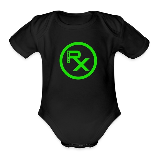 Raw Nature Black and Green - Organic Short Sleeve Baby Bodysuit