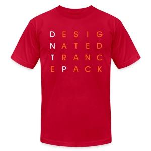 Grid (White/Orange) - Male - Men's Fine Jersey T-Shirt