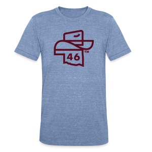 46 Hat - Premium - Heather Blue - Unisex Tri-Blend T-Shirt by American Apparel