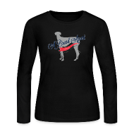 Long Sleeve Shirts ~ Women's Long Sleeve Jersey T-Shirt ~ A Breed Apart logo women's long sleeve T shirt; Azawakh Division