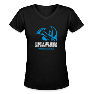 T-Shirts ~ Women's V-Neck T-Shirt ~ It never gets easier D2 | Womens tee v-neck