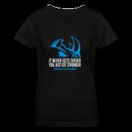Women's T-Shirts ~ Women's V-Neck T-Shirt ~ It never gets easier D2 | Womens tee v-neck