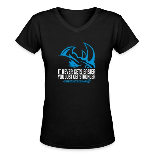It never gets easier D2 | Womens tee v-neck - Women's V-Neck T-Shirt