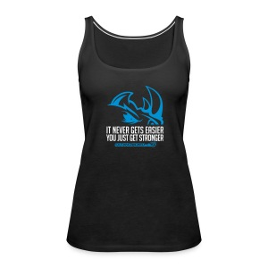 It never gets easier D2 | Womens tank - Women's Premium Tank Top