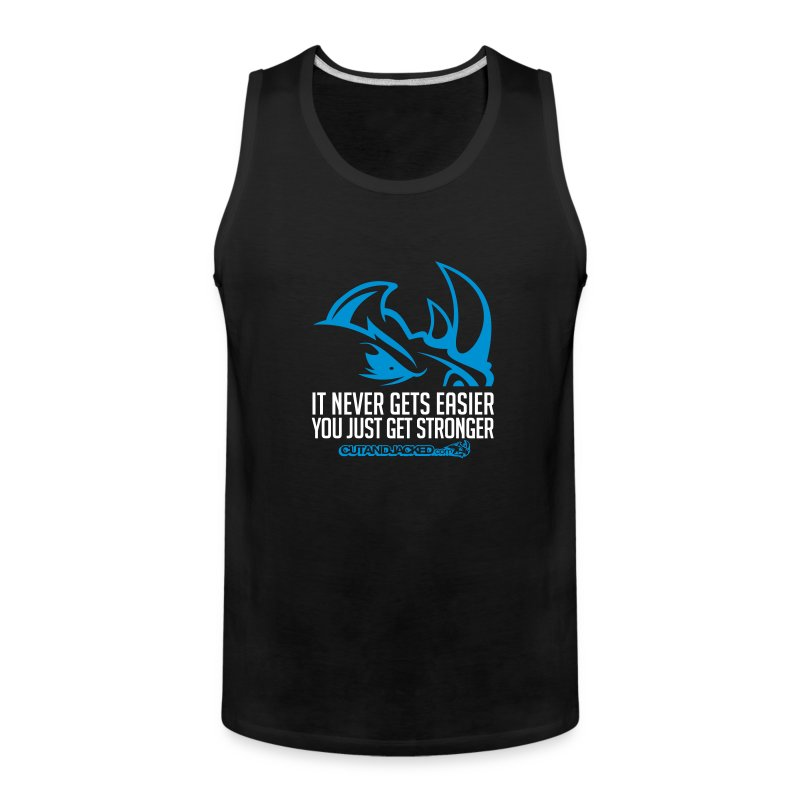 It never gets easier D2 | mens tank - Men's Premium Tank
