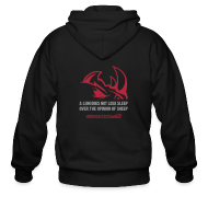 Zip Hoodies & Jackets ~ Men's Zip Hoodie ~ A lion D2 | Mens zipper hoodie