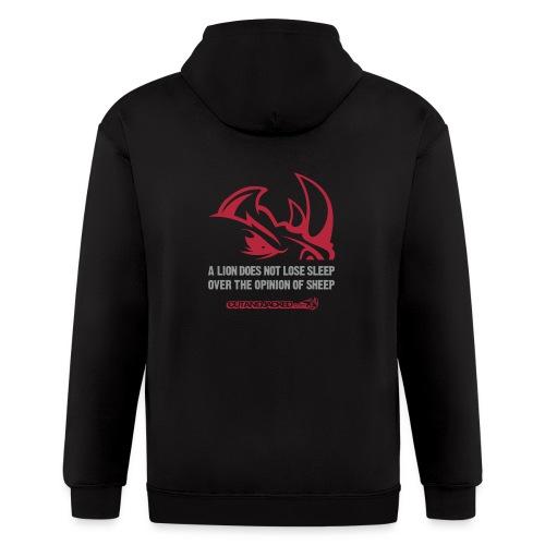 A lion D2 | Mens zipper hoodie - Men's Zip Hoodie