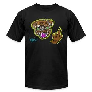 Middle Finger Pug - Rough Drawing - Men's Fine Jersey T-Shirt
