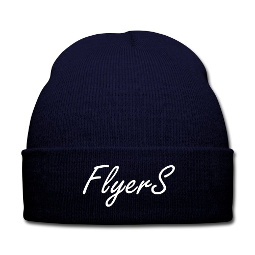 Flyers Beanie Navy - Knit Cap with Cuff Print