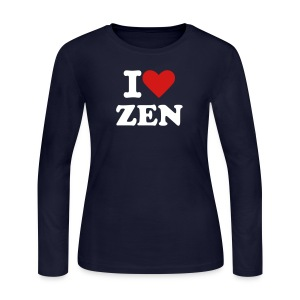 I Love Zen - Women's Tee, Long Sleeve - Women's Long Sleeve Jersey T-Shirt