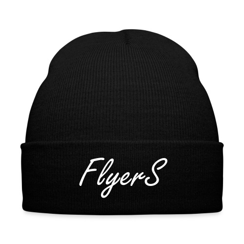 Flyers Beanie Red - Knit Cap with Cuff Print