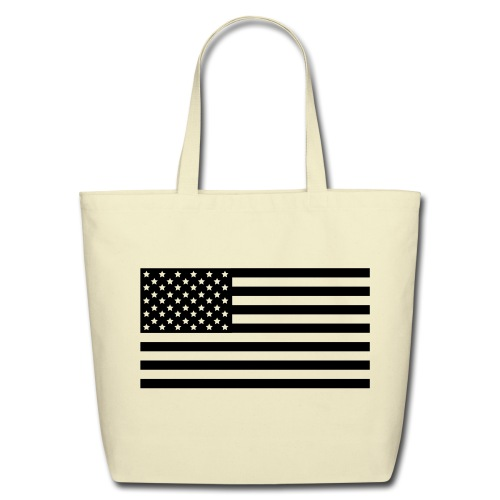 American Flag Shopping Bag - Eco-Friendly Cotton Tote