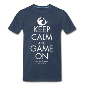VG Keep Calm White 3X - Men's Premium T-Shirt